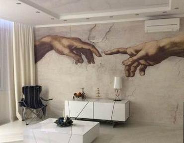 Фреска как оригинальный элемент современного интерьера