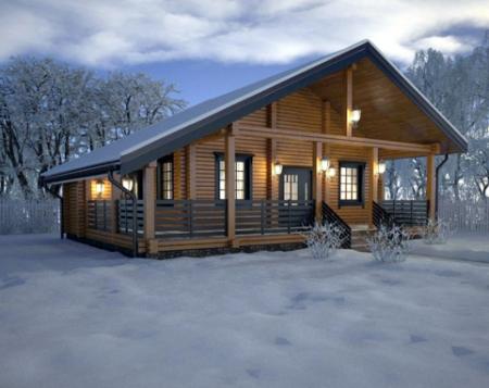 Особенности возведения брусовых домов в зимний период