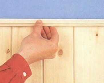 Отделка стен при помощи шпунтованных досок