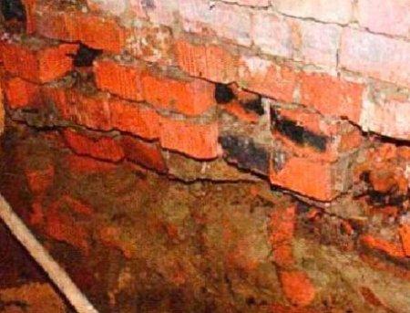 Ремонт фундамента кирпичного строения