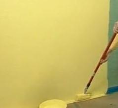 Самостоятельная окраска стен