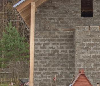 Строим дачный дом из арболитовых блоков