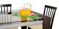 Секлянная мебель (кухонный стол)