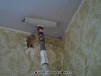 Ремонт потолка (размывка мела,краски)