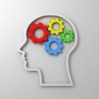 Иллюстрация: Человечская голова и механизм из шестеренок