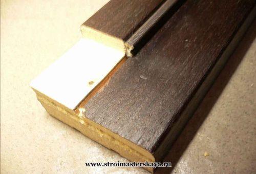 Изготовление верхней поперечины дверной коробки (фото)