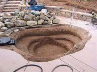 Подготовка места под водоем из пленки ПВХ