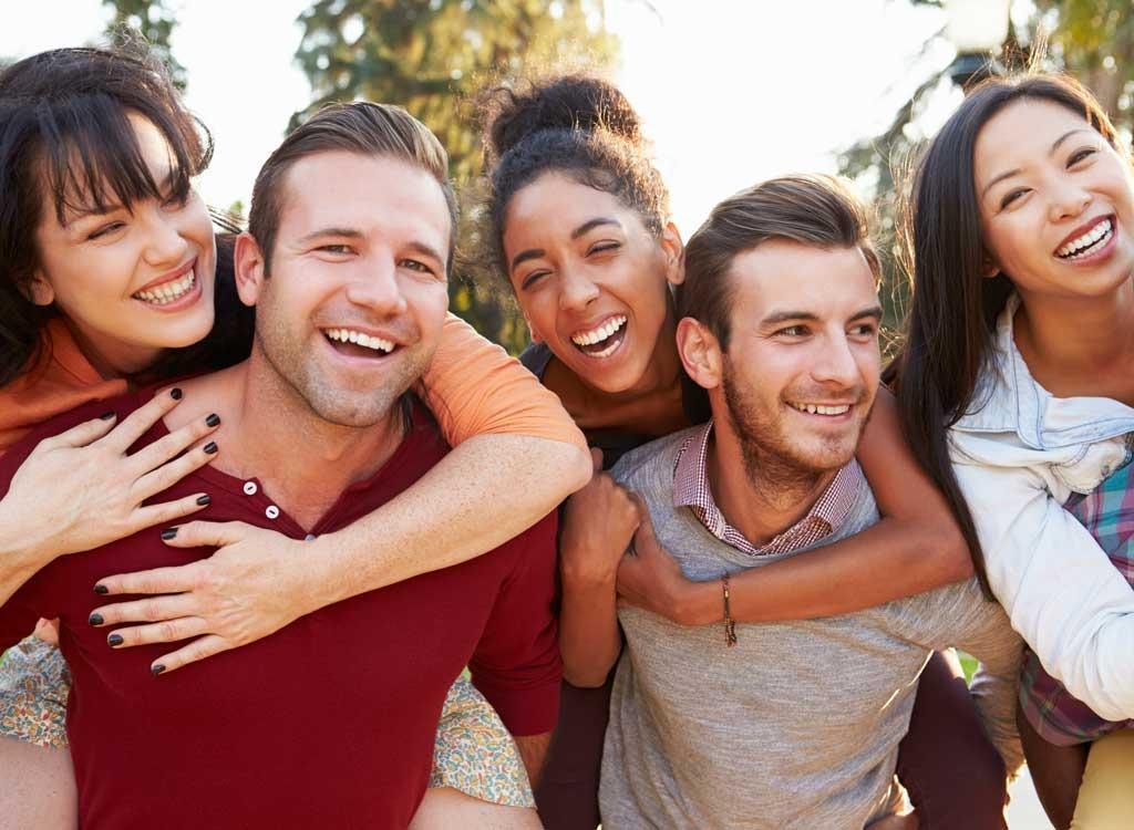 happy people friends