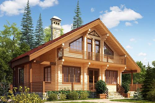 Дома из клееного бруса: доступное и экологически чистое жилье