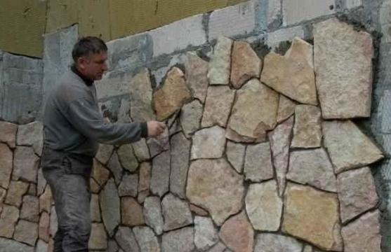 Технология отделки фундамента под камень