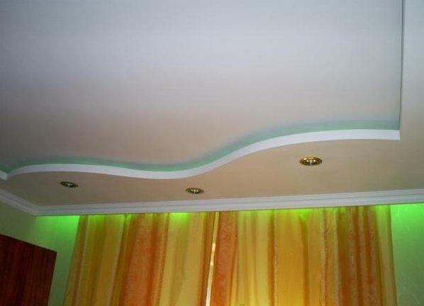 потолок своими руками из гипсокартона фото
