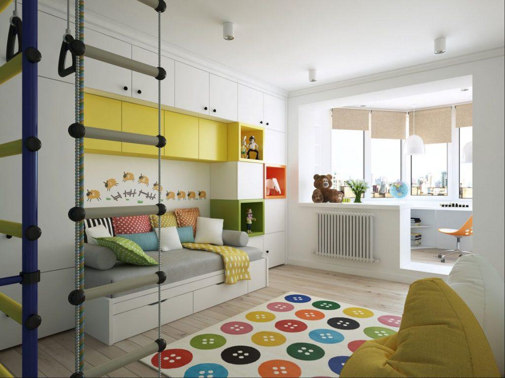 Оформление интерьера детской комнаты