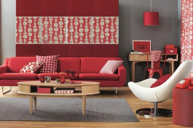 Красные вставки в дизайне интерьера