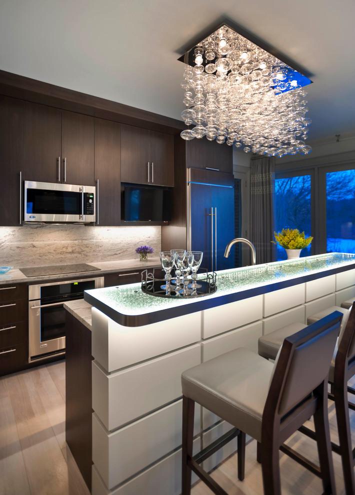 Современный красивый дизайн кухни