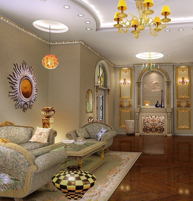 Дизайнерские решения в византийском интерьере