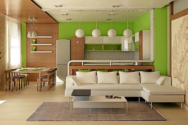 Планирование и зонирование небольшой гостиной