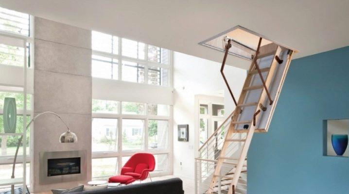 Современная чердачная лестница