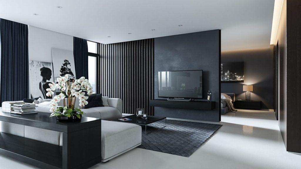 Черный цвет в современном интерьере