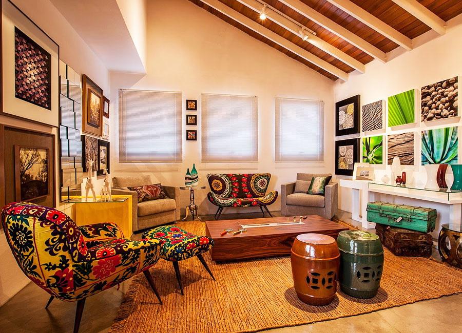 Оформление квартиры с элементами этно-стиля