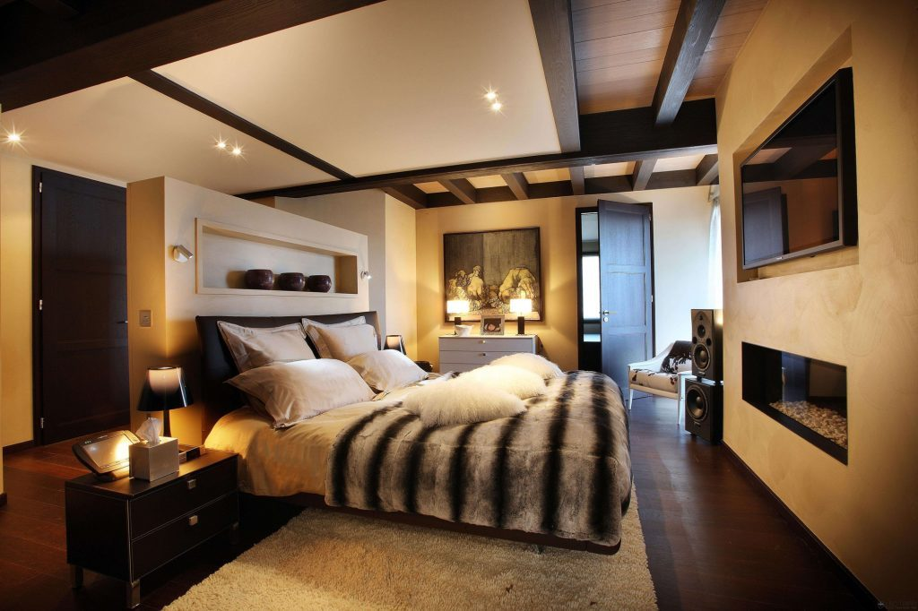 Обустройство спальни в стиле люкс