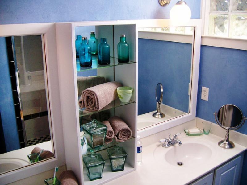 Обустройство ванной при помощи шкафов
