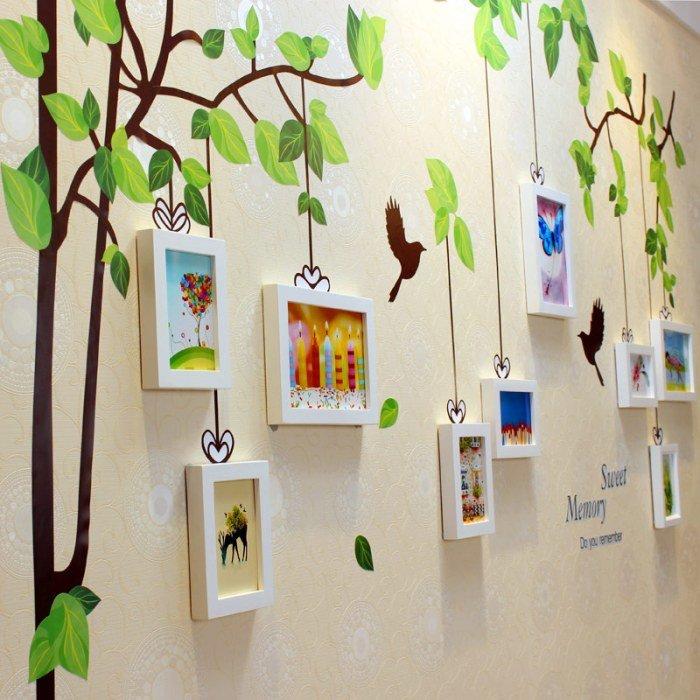 Детские рисунки в декоре квартиры