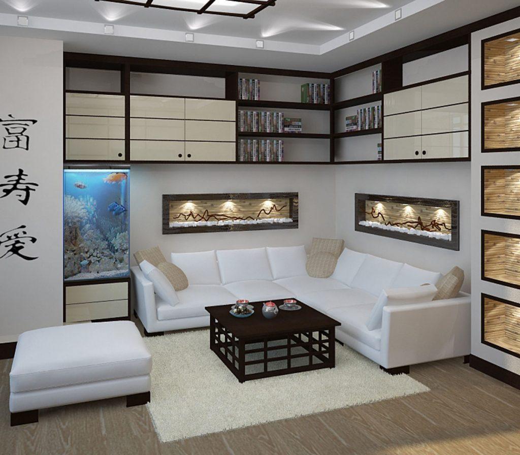 Зонирование помещения в японском стиле