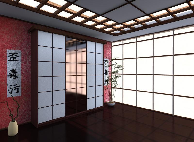 Японский дизайн шкафа - купе