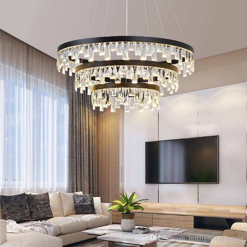 nordic crystal chandelier light dining room