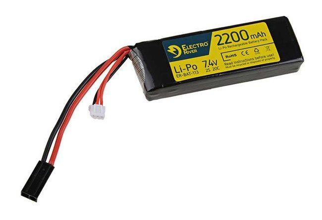 electro river lipo akku 74v 2200mah 20c block type