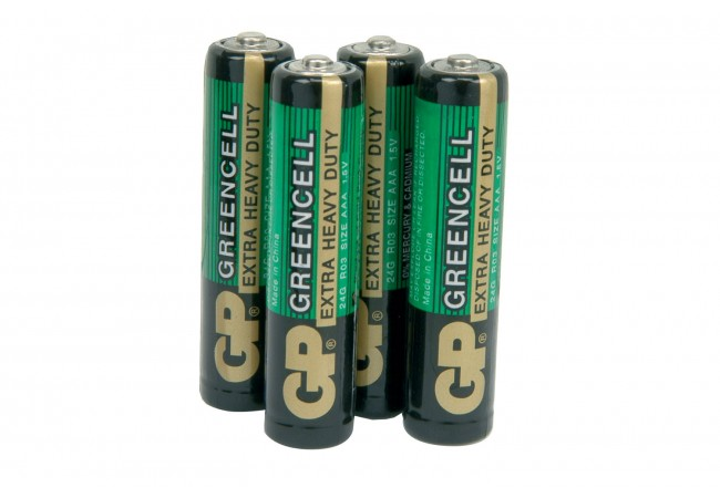 gp battery zinc chloride batteries aaa 1 5v packed 4