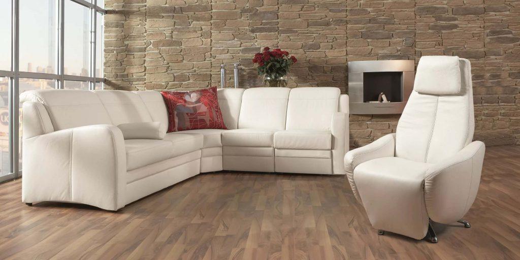 Стильная кожаная мебель в гостиную