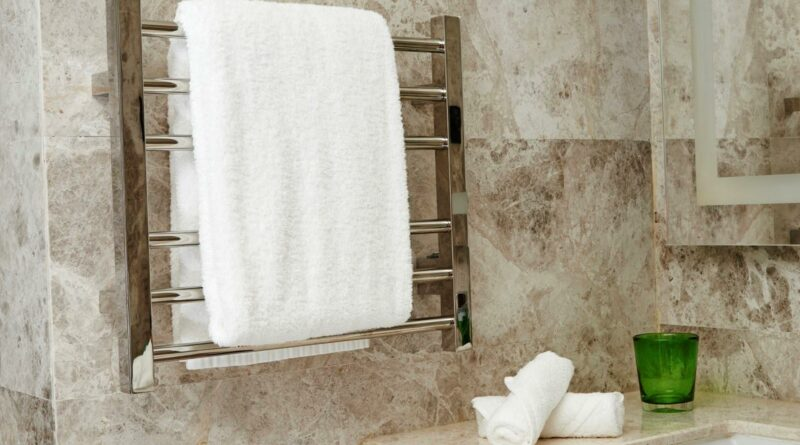 towel rail with towel